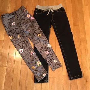 Justice Girls Jeans & Leggings (Size 7)